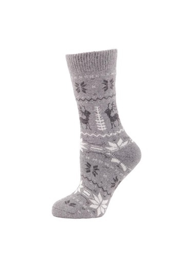 Panthzer  Casual Wool Socks Çorap Gri Gri